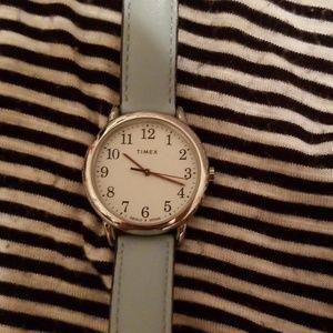 Women's Timex watch light blue band